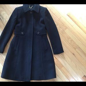 JCrew Lady Coat ,Black wool,  size 4 petite.